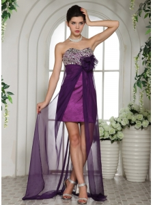 Eggplant Purple Sweetheart A-line Beaded Decorate Bust 2013 Prom Dress With Appliques