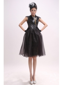 High Neck and Cap Sleeves For 2013 Prom Dress With Sequin