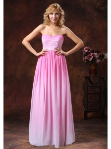 Ombre Color Chiffon Sweetheart Prom Dress