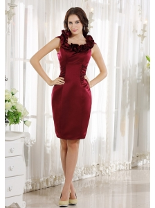 Scoop Neckline Burgundy Knee-length Dama Dresses For Quinceanera In 2013