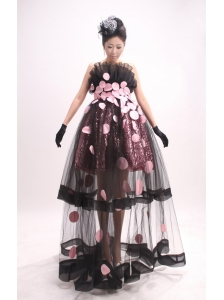 Exquisite Prom Dress With Tulle and Sequin