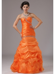 Mermaid Beaded Decorate Bust and Ruched Bodice For 2013 Prom Dress
