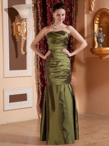 Mermaid Olive Green and Bodice Bodice For Prom Dress