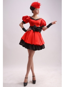 Short Sleeves and Bowknot For 2013 Prom Dress