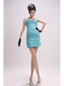 Column Ruched Over Skirt and Beading Foe Custom Made Prom Dress