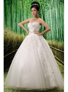 2013 Gorgeous Sweetheart Embroidery With Beading Wedding Dress For Custom Made