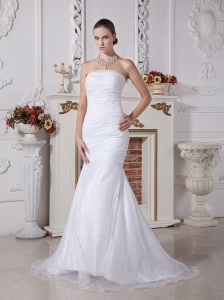 2013 Mermaid Court Train Wedding Dress 2013 For Custom Made