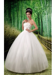 Lace-up Ball Gown Strapless Wedding Dress For Custom Made Floor-length
