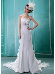 Fashionable Beaded Decorate 2013 Wedding Dress With Ruch In Wedding Party
