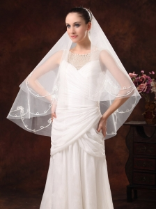 2 Layers Discount Tulle Bridal Veils For Wedding
