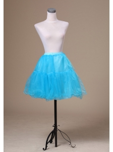 Aqua Blue Mini-length Custom Made Petticoat