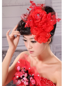 Best Red and Tulle For Headpieces With Beading