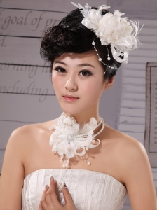 Elegant Tulle Silk Ribbon Feather Flower Hairpin Special Occasion and Wedding