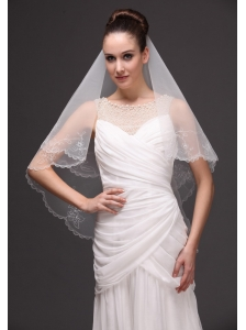Embroidery Tulle Beautiful Bridal Veils For Wedding