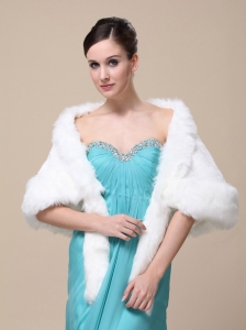 Faux Fur Wraps For Wedding Party and Other Occasion With Open Front