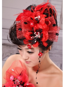 High Quality Little Hat Feather Tulle and Beading