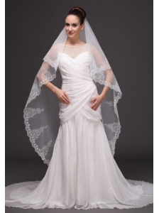 Lace Tulle Classic Bridal Veil For Wedding