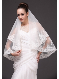Lace Tulle Popular Bridal Veils For Wedding