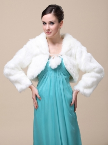Low Price Rabbit Fur Special Jacket  In Ivory With High-neck