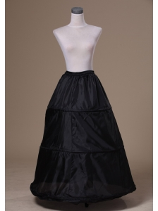 Modest Organza Black Floor-length Wedding Petticoat