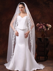 One-tier Tulle Cathedral Veil For Wedding