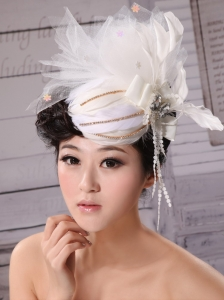 Special Hat Hairpin Tulle Beading Outdoor and Wedding