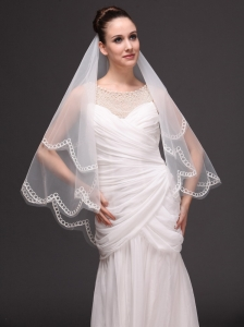 Two-tier Tulle Wedding Veil On Sale