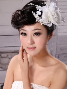 Tulle and Chiffon With Imitation Pearls Fascinators Pure Wedding and Outdoor