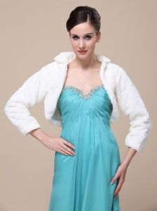 Elegant Special Occasion Wedding / Bridal Jacket With Long-Sleeves