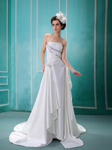 Halter Prom Dress In 2013 Prom Glennallen With Zipper Beaded Decorate Wedding Dress