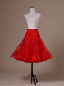 Hot Selling Red Organza Mini-length Petticoat