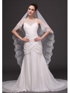 Lace Popular Tulle Bridal Veils For Wedding