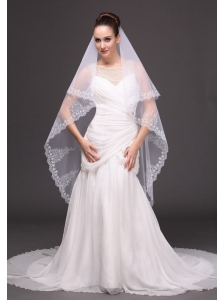 Lace Tulle Fashionable Bridal Veils For Wedding