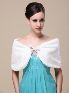 Luxurious Faux Fur Special Occasion / Wedding Shawl On Sale