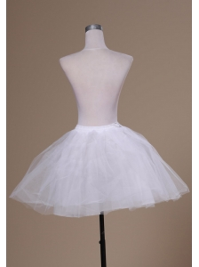 Sweet Mini-length White A-line Petticoat
