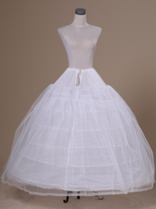 White Tulle Floor-length Petticoat