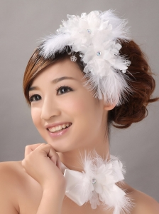 Beautiful Fascinator Wedding and Outdoor Organza Fascinators