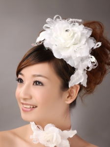 Exquisite Ribbons Flower Organza Bridal Fascinators