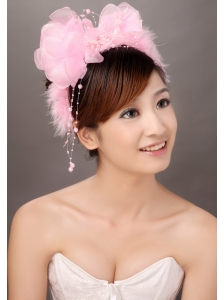 Lovely Organza Beading Hat Hair Ornament