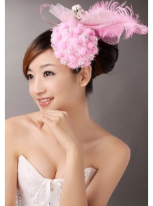 Lovely Tulle and Feather Beading Fascinators