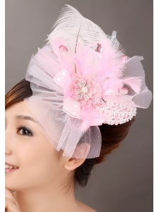 Sweet Tulle Feather Side Clamp Diamond Women' s Fascinators