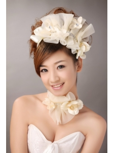 Champagne Organza Special Occasion and Outdoor Fascinators/ Hairband