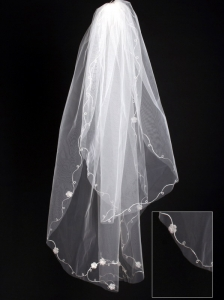 Organza Scalloped Edge Bridal Veils