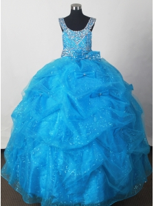 2012 Pretty Little Girl Pageant Dresses  With Pick-ups and Beading Custom Made