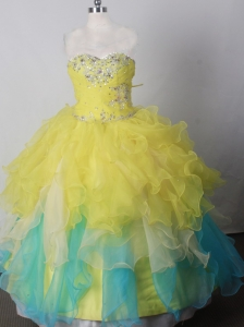 Brand New Beading Ball Gown Little Girl Pageant Dress Sweetheart Floor-length