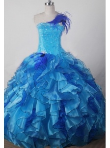 Exquisite Beading and Ruffles Decorate Bodice Ball Gown Little Girl Pageant Dress Strapless Floor-length