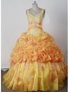 Popular Appliques With Beading Ball Gown Little Girl Pageant Dress Sweetheart Strap Floor-length