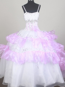 Sweet Little Girl Pageant Dresses With Beading and Ruffled Layers
