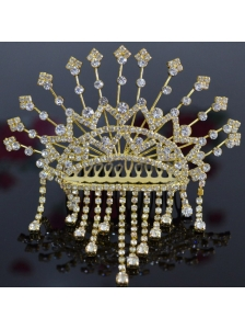 Classical Tiara With Rhinestones Accents