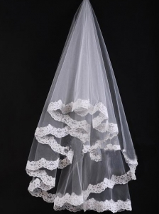 Bridal Veil With Lace On Sale